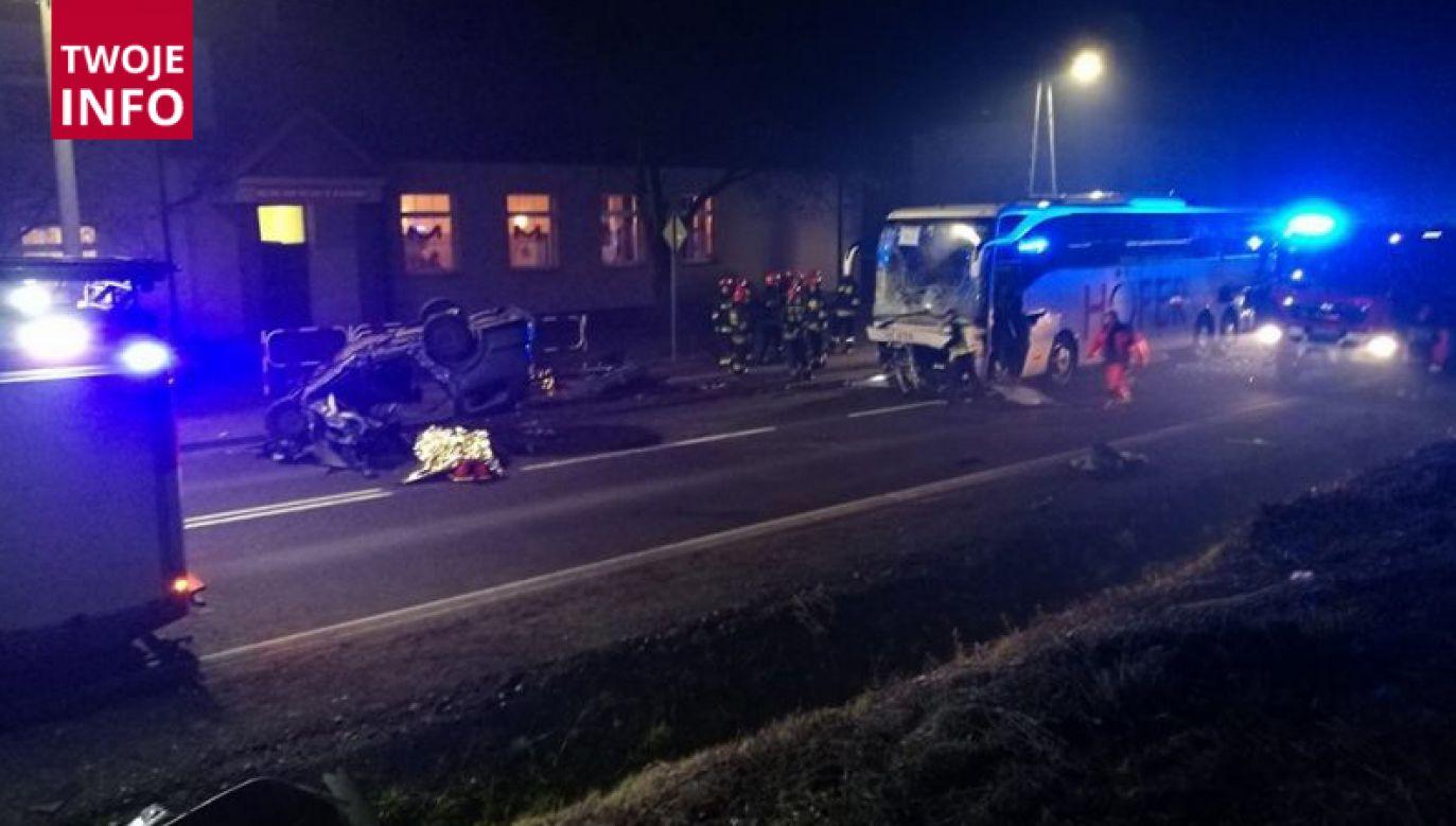Do wypadku doszło w sobotę wieczorem w Blachowni na Śląsku (fot. GminaBlachownia.pl)