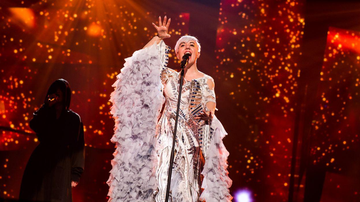Nina Kraljić z Chorwacji lubi błyszczeć – jednak swoim występem na zachwyciła publiczności (fot. Anna Velikova)