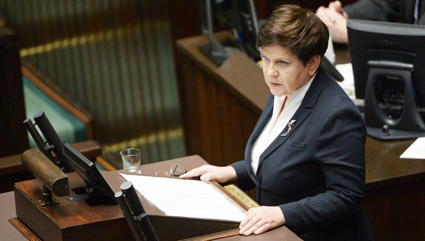 Wicepremier Beata Szydło (fot. PAP/Marcin Obara)