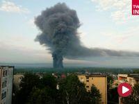 """Pożar składowiska opon w Trzebini. """"Wygląda jak po wybuchu atomowym"""" [GALERIA]"""