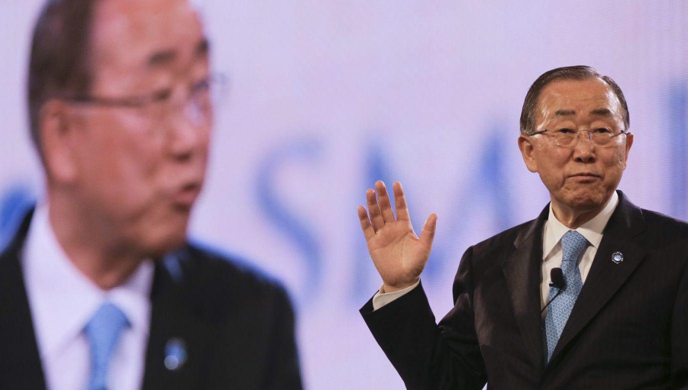 Ban Ki Mun kończy kadencję (fot. PAP/EPA/WALLACE WOON)