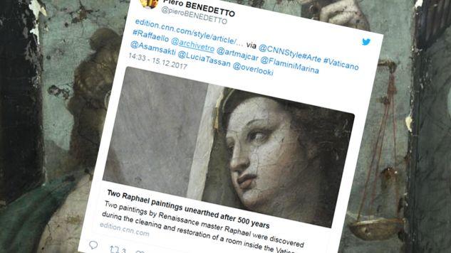 Eksperci twierdzą, że były to ostatnie dzieła mistrza renesansowego malarstwa (fot. tt/@pieroBENEDETTO)