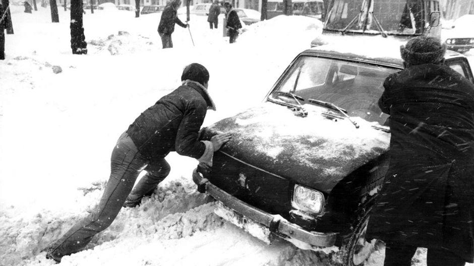 Zima stulecia w 1979 roku (fot. arch.PAP/Ireneusz Radkiewicz)