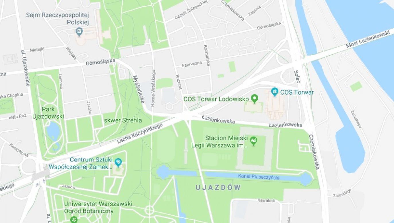 Aleja im. Lecha Kaczyńskiego już na mapach Google (fot. Google Maps)