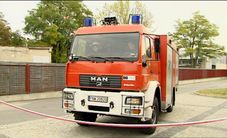 Prezent od strażaków – samochód ratowniczo-gaśniczy