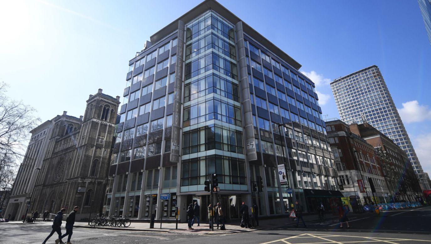 Biuro doradztwa politycznego Cambridge Analytica w Londynie (fot. PAP/EPA/ANDY RAIN)
