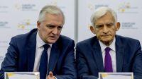 Jarosław Gowin, Jerzy Buzek fot. PAP/Andrzej Grygiel