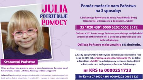 Mała Julia potrzebuje pomocy