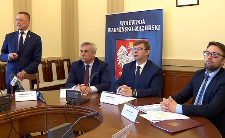 Do Olsztyna przyjechał Paweł Czemiel (pierwszy z prawej), doradca ministra infrastruktury