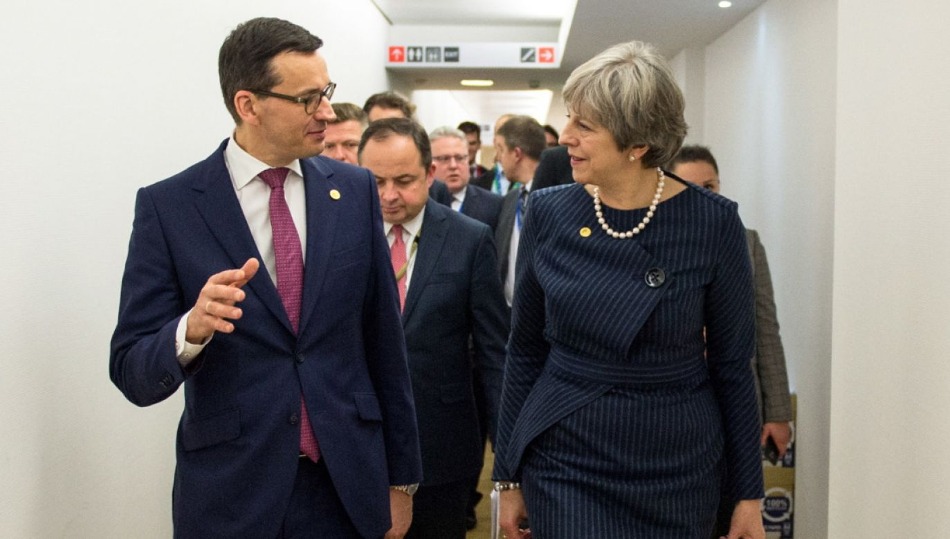 Premier Mateusz Morawiecki i premier Wielkiej Brytanii Theresa May (fot. PAP/Marcin Obara)
