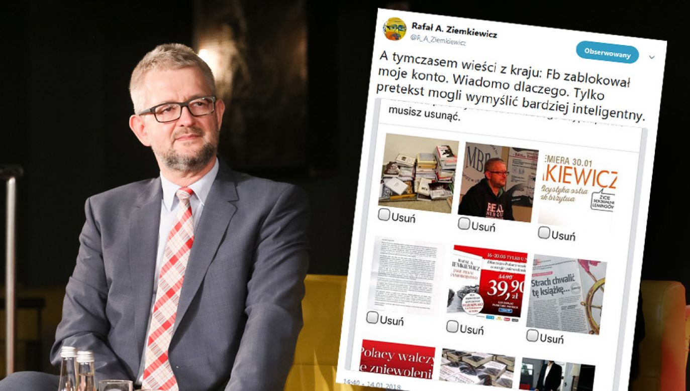 Rafał Ziemkiewicz otrzymał radę, jak może odzyskać dostęp do konta (fot. arch.PAP/Paweł Supernak)