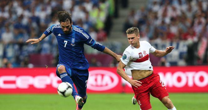 Giorgios Samaras i Łukasz Piszczek (fot. Getty Images)