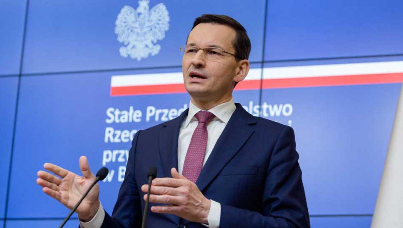 Premier Mateusz Morawiecki wziął udział w dwudniowym unijnym szczycie (fot. PAP/Adam Guz)