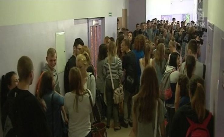 Uczniowie okupują szkołę w Człuchowie
