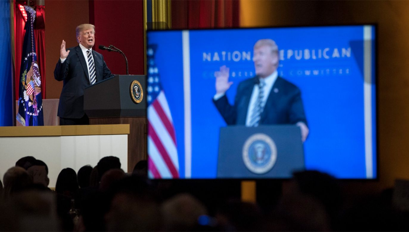 Donald Trump nie wypomniał Władimirowi Putinowi zamachu na Siergieja Skripala (fot. PAP/EPA/KEVIN DIETSCH / POOL)