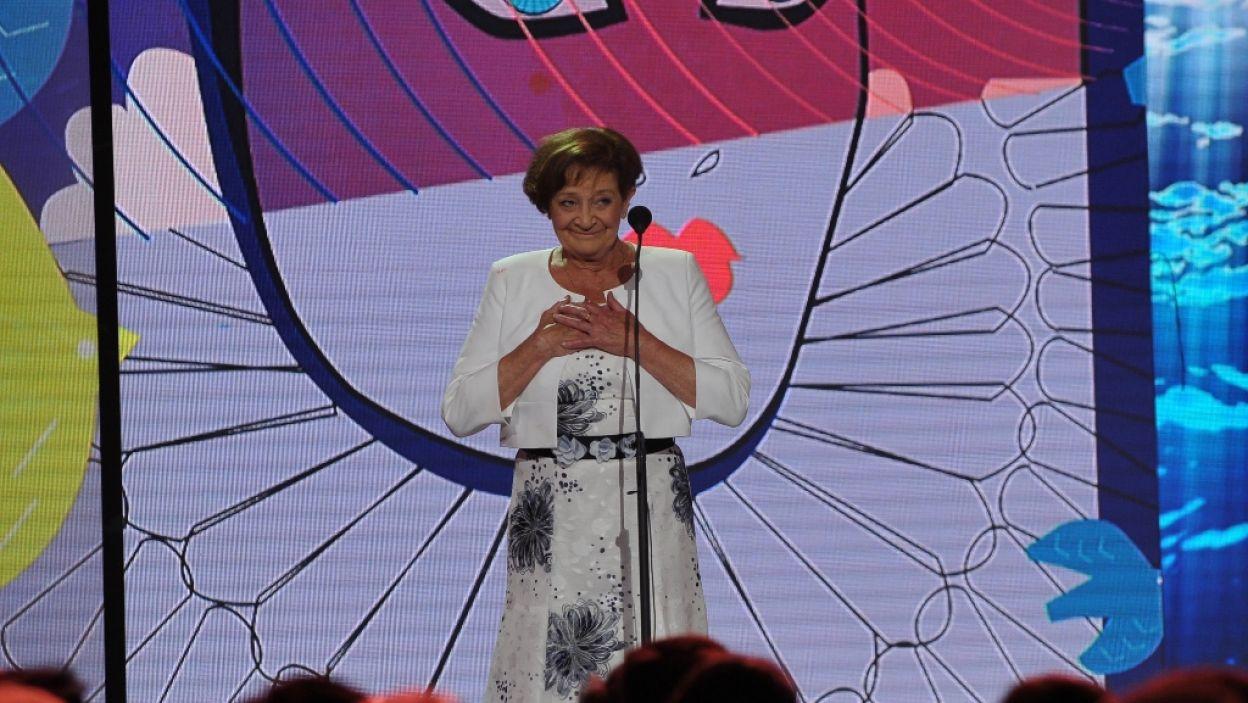 """Wiera Zasulicz z """"Białego mazura"""", Księżna Szczerbatow-Mamujew z """"Przedwiośnia"""" czy Olga Diana z """" Lekcji  martwego języka"""" to tylko niektóre z jej ról. Wielką Nagrodę za wybitne kreacje aktorskie otrzymała Ewa Dałkowska (fot. N. Młudzik/TVP)"""