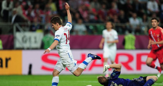 Vaclav Pilar w 52. minucie zdobył kontaktową bramkę dla reprezentacji Czech (fot. Getty Images)
