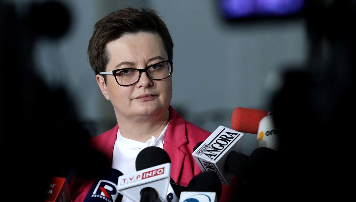 Katarzyna Lubnauer poinformowała, że będzie ubiegać się o stanowisko przewodniczącej Nowoczesnej (fot. PAP/Tomasz Gzell)