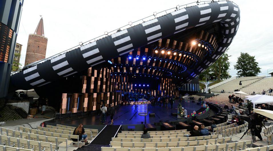Trwają próby do festiwalowych koncertów 54. KFPP Opole 2017. (fot. TVP/ Jan Bogacz)