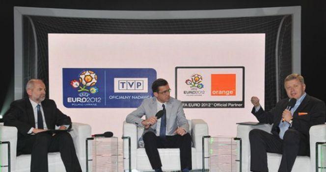 Umowę podpisali prezes zarządu TVP Juliusz Braun oraz prezes Orange Polska Maciej Witucki (fot. Ireneusz.Sobieszczuk)