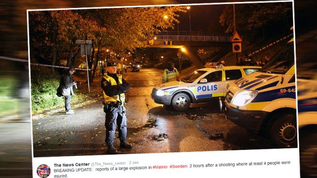 Strzelanina i wybuch w Malmo. Cztery osoby ranne