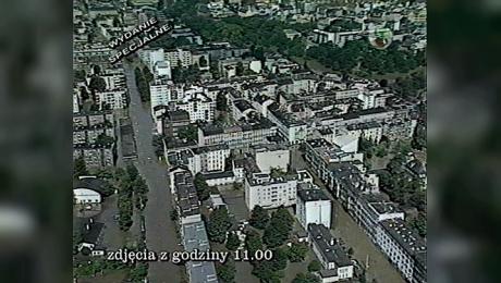 Powódź: Wrocław i okolice z helikoptera – 14.07.1997 – 11:00