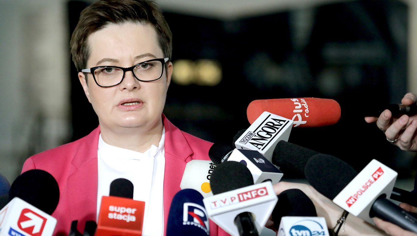 Przewodnicząca Klubu Poselskiego Nowoczesnej Katarzyna Lubnauer (fot. PAP/Tomasz Gzell)