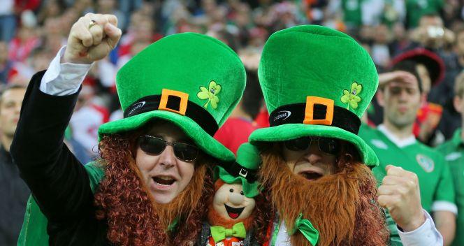 Irlandcy kibice podczas meczu z Hiszpanią (fot. Getty Images)