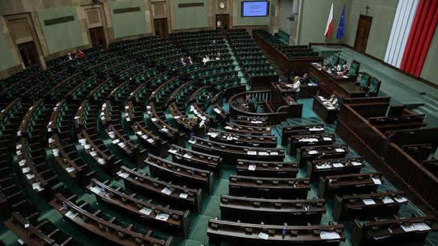 Prof. Gersdorf przemawiała do pustej sali (fot. PAP/Rafał Guz)