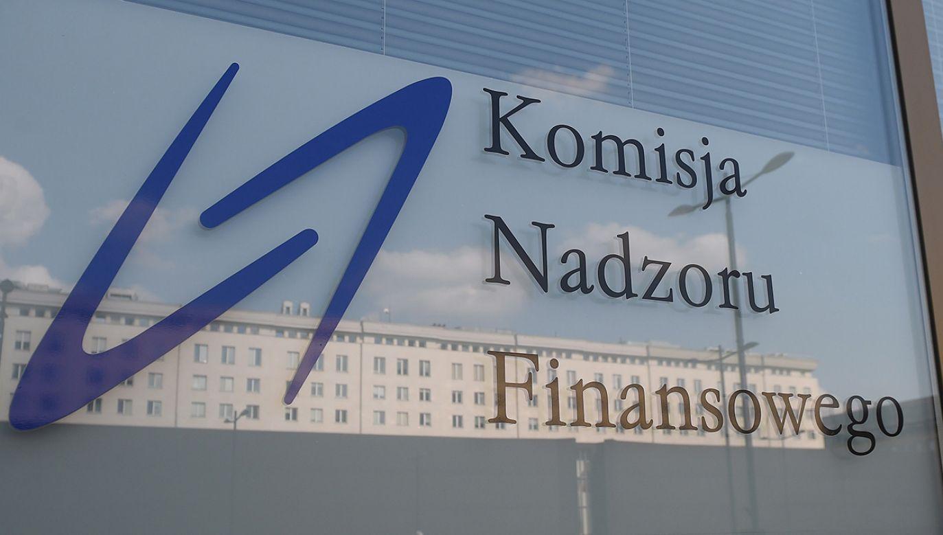 Siedziba Komisji Nadzoru Finansowego w Warszawie (fot. arch. PAP/Radek Pietruszka)