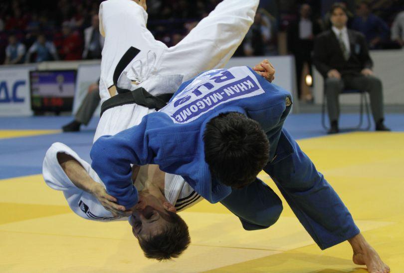 Ćwierćfinał z Rosjaninem Kamalem Khanem Magomedovem Zagrodnik wygrał 5:0 (fot.PAP)