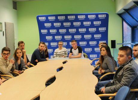 Spotkanie ze studentami dziennikarstwa
