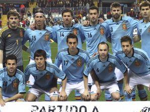 Reprezentacja Hiszpanii (fot. PAP/EPA)