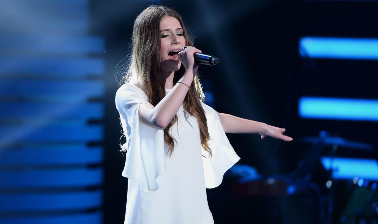 W Wielkim Teście o Europie nie mogło zabraknąć występu zwyciężczyni Eurowizji Junior Roksany Węgiel (fot. TVP/J. Bogacz)