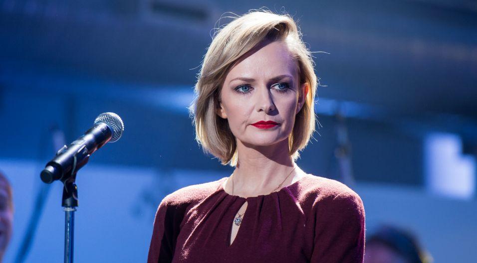 Jak powiedziała Kasia, woli śpiewać niż innych oceniać  (fot. Jan Bogacz/TVP)