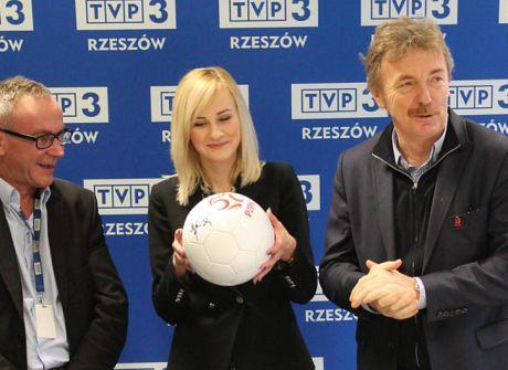 Zbigniew Boniek z wizytą w TVP3 Rzeszów