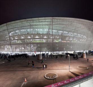Stadion we Wrocławiu podczas meczu Śląska (fot. PAP)