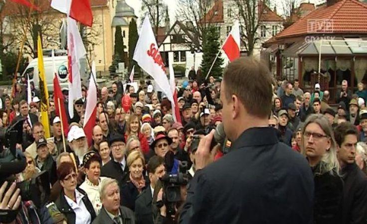 Drugi dzień kampanii wyborczej Andrzeja Dudy na Pomorzu