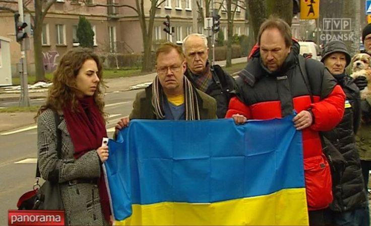 Pikieta żałobna pod Konsulatem Ukrainy w Gdańsku