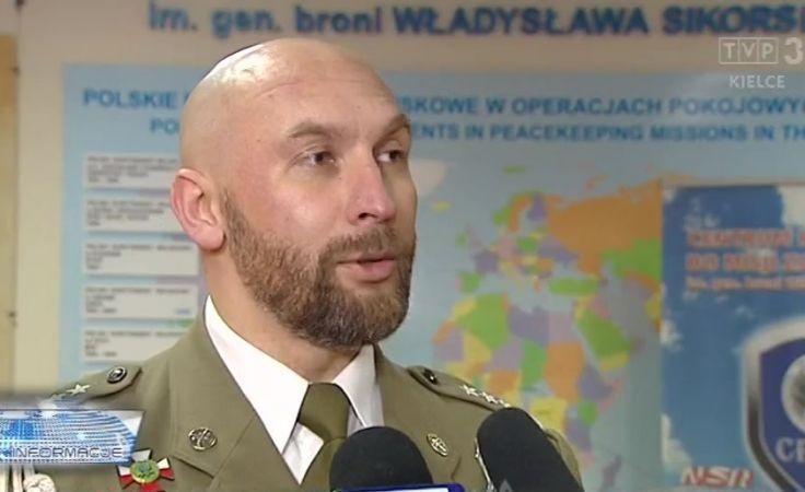 płk Paweł Chabielski, komendant Centrum Przygotowań do Misji Zagranicznych w Kielcach
