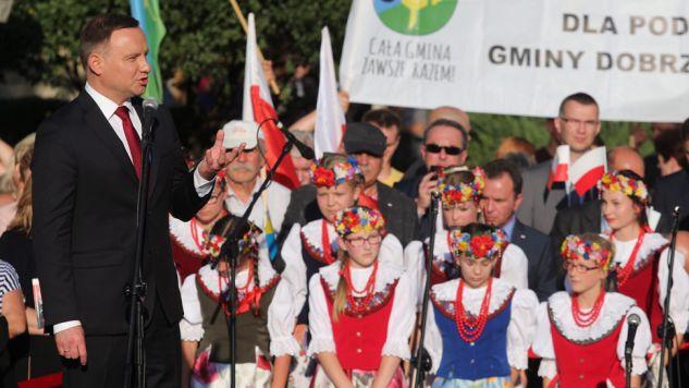 Prezydent Andrzej Duda odwiedził Strzelce Opolskie (fot. PAP/Andrzej Grygiel)