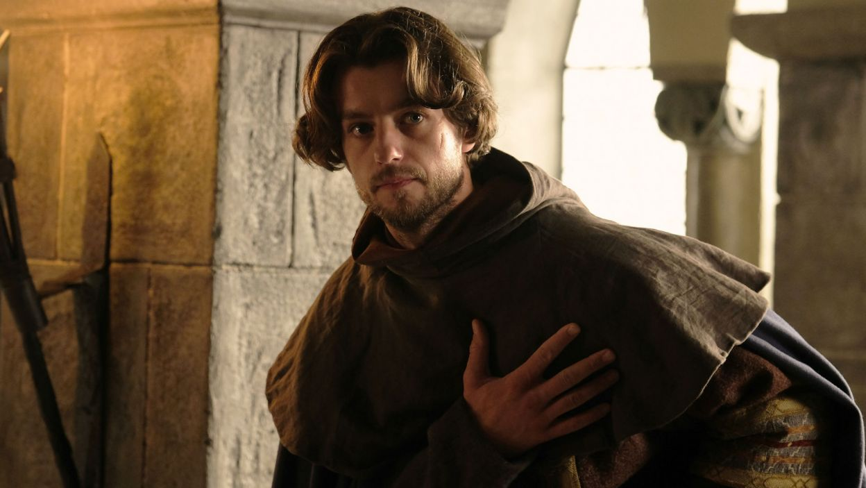 Po dwórkę przybywa na Wawel Guncel Reibnitz, najbardziej zaufany rycerz księcia Bolka (fot. TVP)