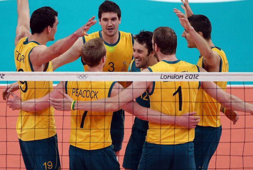 Australijczycy cieszą się po wygranym punkcie w meczu z Polską (fot. Getty Images)