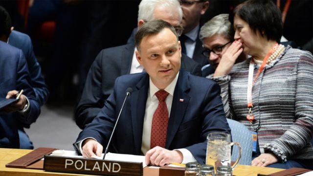 Historyczne wystąpienie prezydenta Dudy w Radzie Bezpieczeństwa ONZ