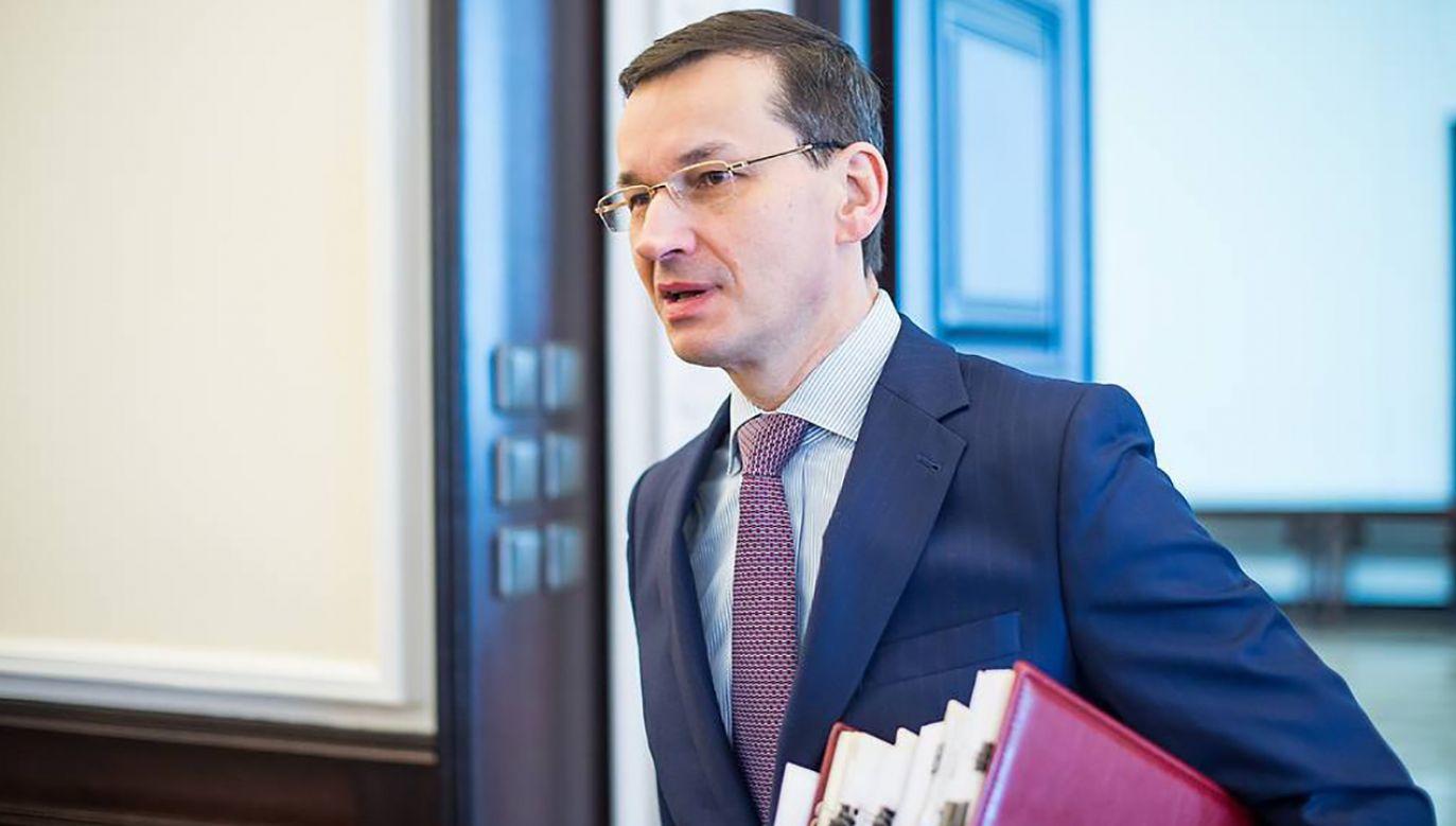 Premier Mateusz Morawiecki (fot. fb/Kancelaria Premiera)