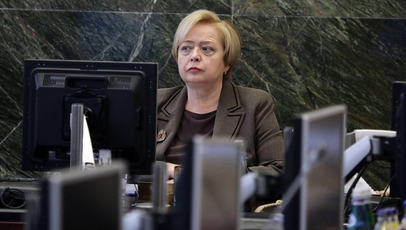 Pierwsza prezes Sądu Najwyższego - prof. Małgorzata Gersdorf podczas pierwszego posiedzenia Krajowej Rady Sądownictwa (fot. arch. PAP/Tomasz Gzell )