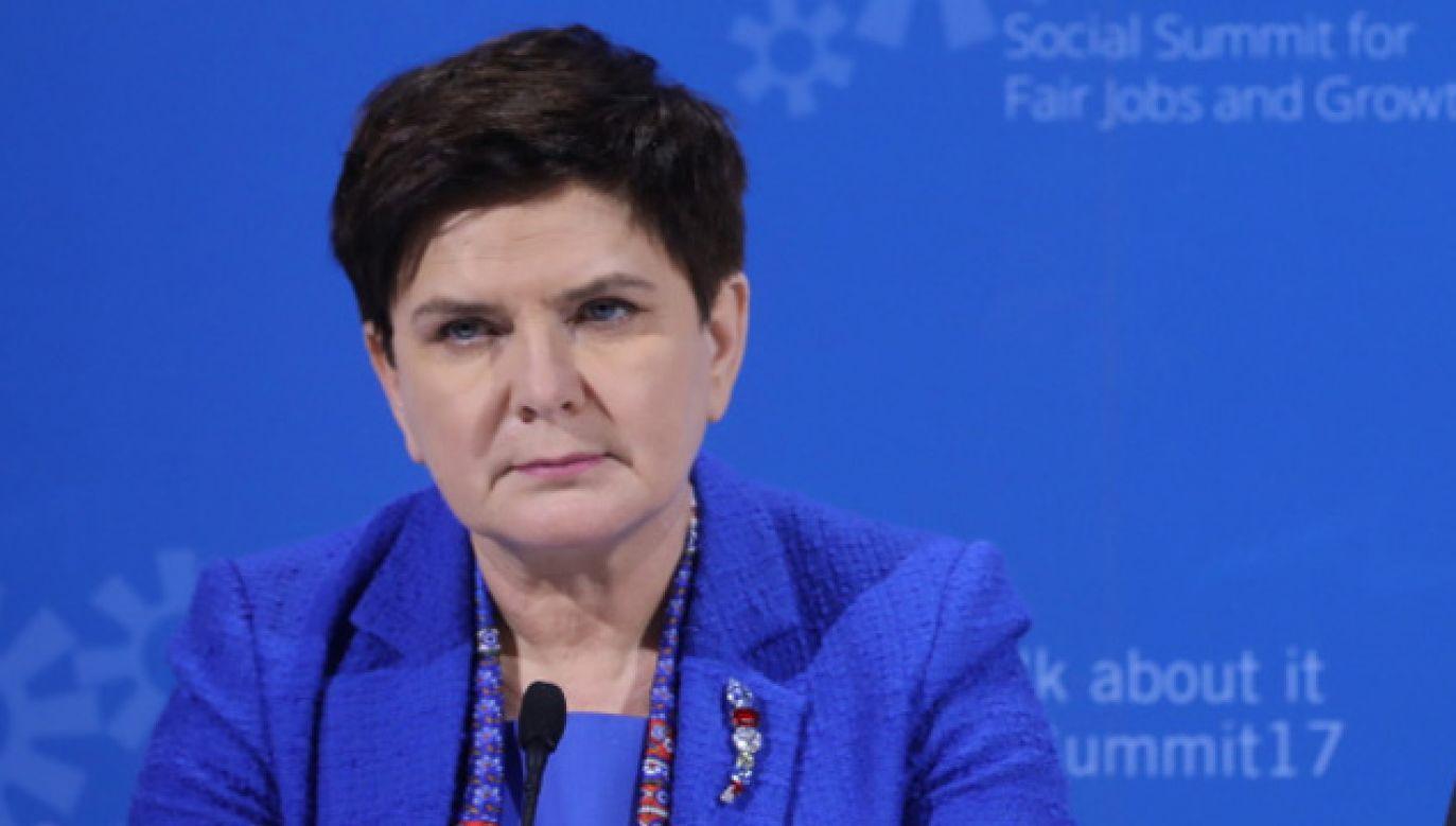 Premier Szydło oświadczyła, że Polska nie toleruje zachowań, które są przekraczającymi wszelkie dopuszczalne normy (fot. PAP/Rafał Guz)