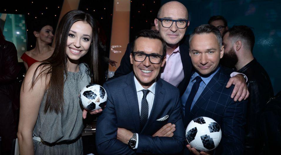 Podczas konferencji wszystkim udzieliły się piłkarskie emocje (fot. J. Bogacz/ TVP)