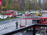 Wypadek w Poznaniu. Helikopter ratowniczy lądował na ulicy