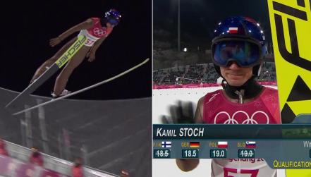 Skok Kamila Stocha w kwalifikacjach, 104 metry